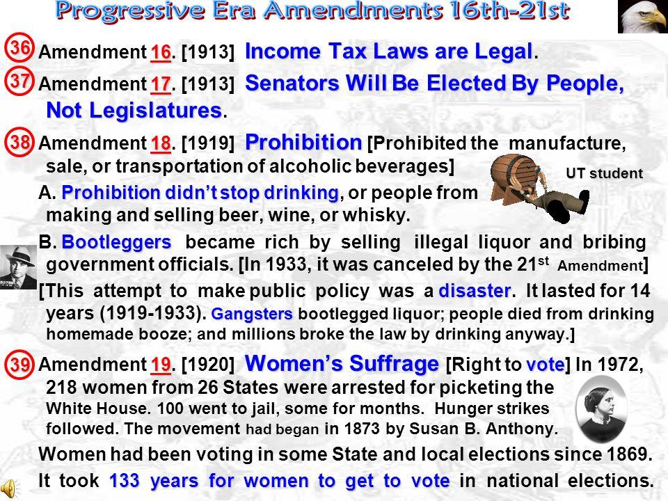 Civil War Amendments Civil War Amendments – 13, 14, & 15 – wiped out slavery.