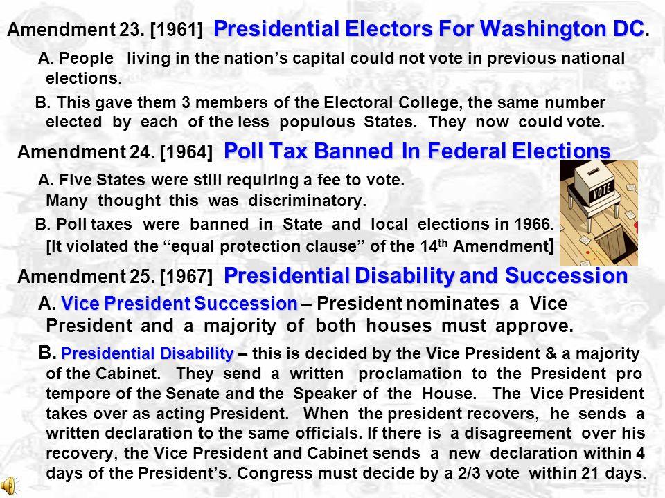 Lame Duck Amendment Amendment 20.[1933] Lame Duck Amendment start of terms inauguration A.