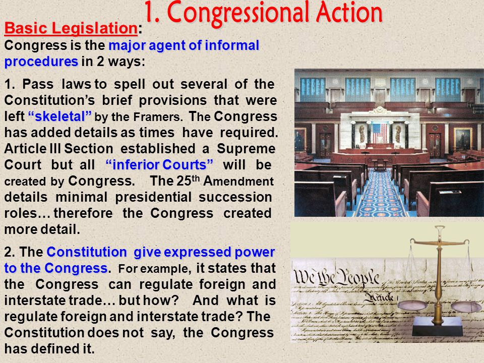 Informally amending Informally amending the constitution is not truly amending it, just interpreting it differently over time, so these are non-constitutional [unwritten] changes.