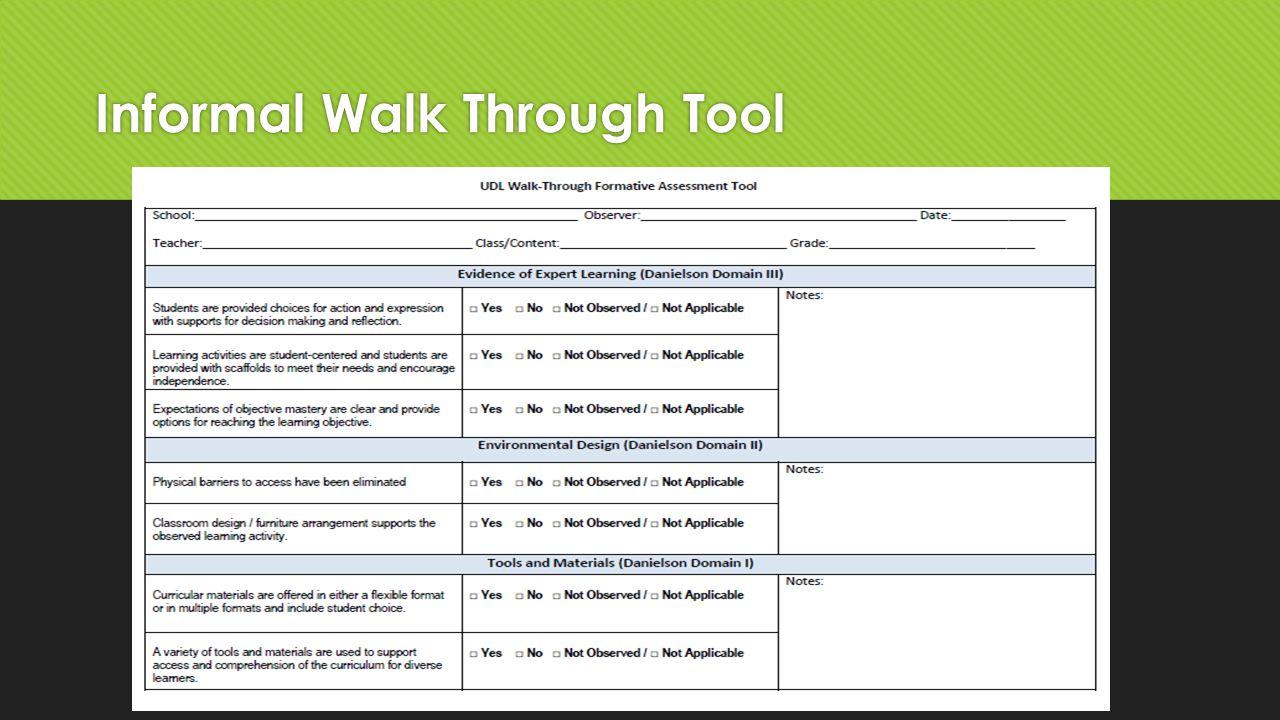 Informal Walk Through Tool