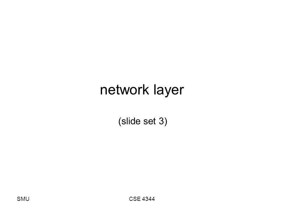 SMUCSE 4344 network layer (slide set 3)