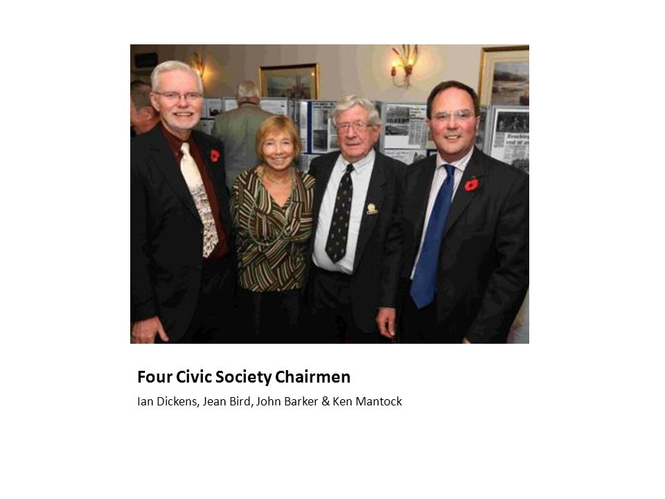 Four Civic Society Chairmen Ian Dickens, Jean Bird, John Barker & Ken Mantock