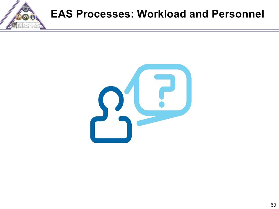EAS Processes: Workload and Personnel 58