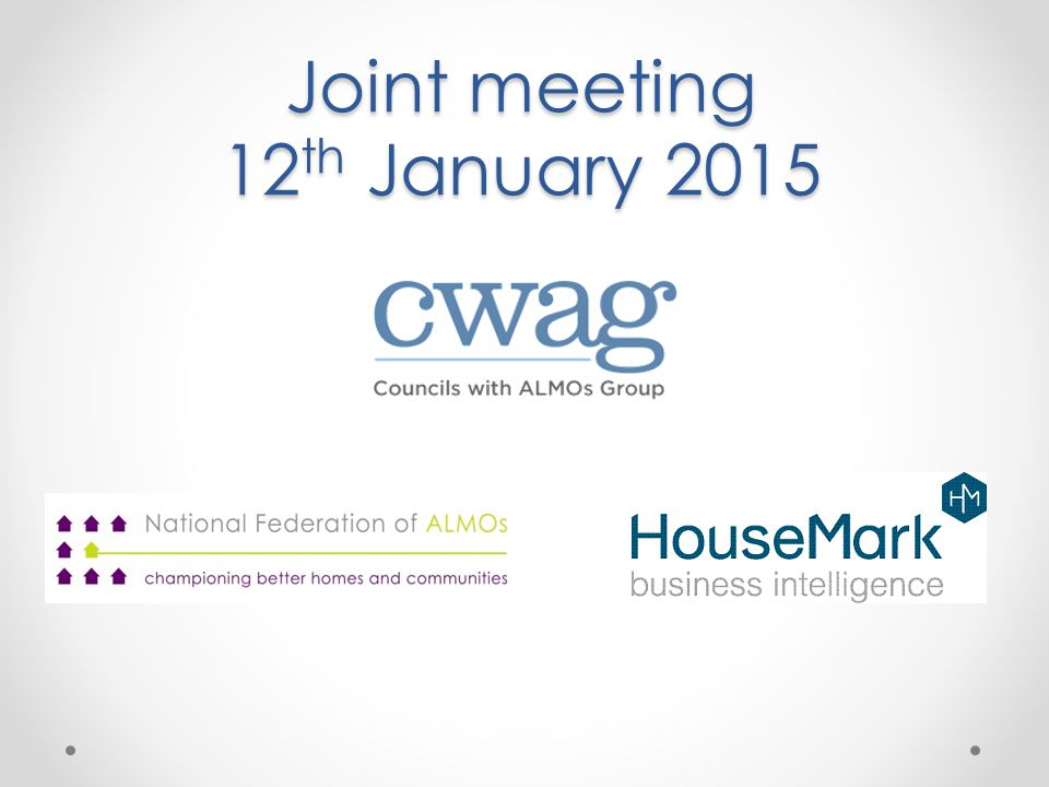 Joint meeting 12 th January 2015