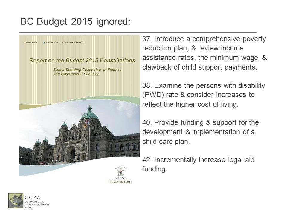 BC Budget 2015 ignored: 37.