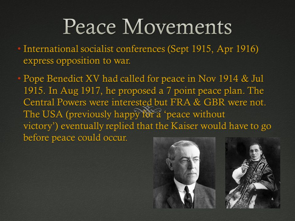 International socialist conferences (Sept 1915, Apr 1916) express opposition to war.