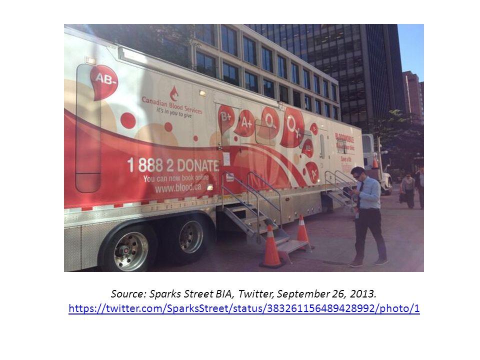 Source: Sparks Street BIA, Twitter, September 26, 2013. https://twitter.com/SparksStreet/status/383261156489428992/photo/1