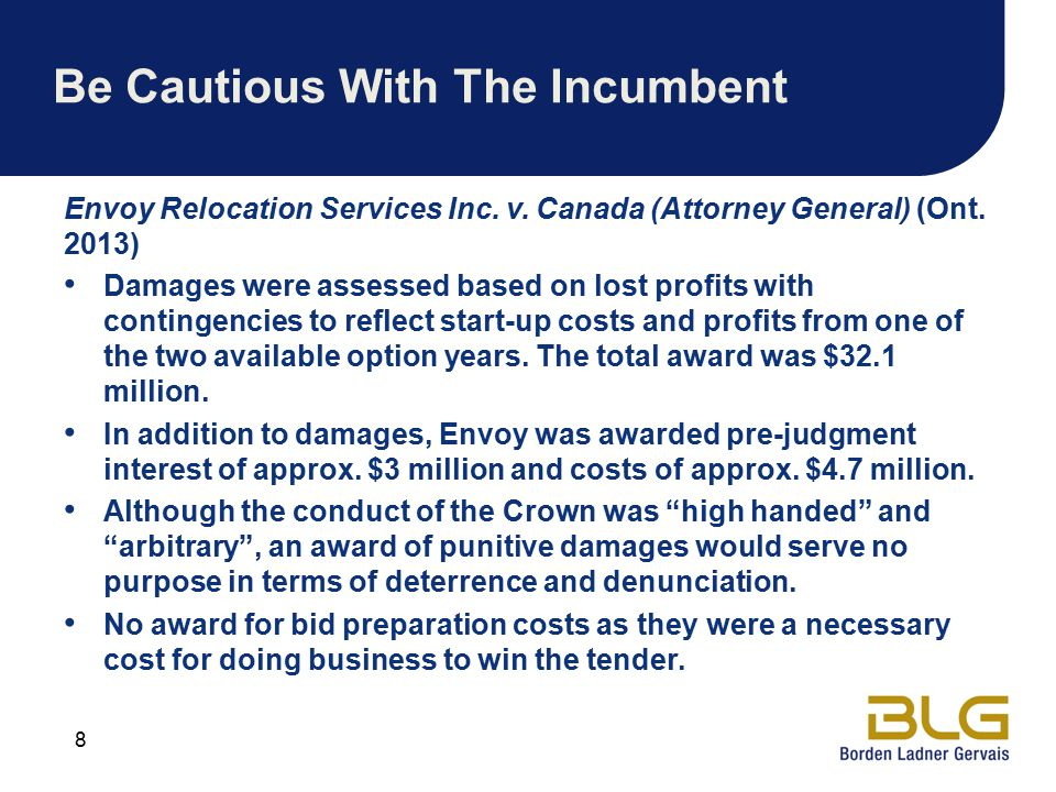 Be Cautious With The Incumbent Envoy Relocation Services Inc.