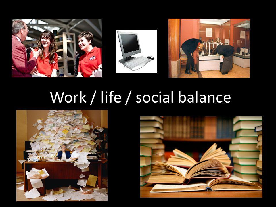 Work / life / social balance