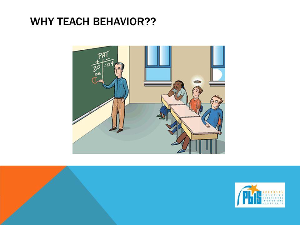 WHY TEACH BEHAVIOR??
