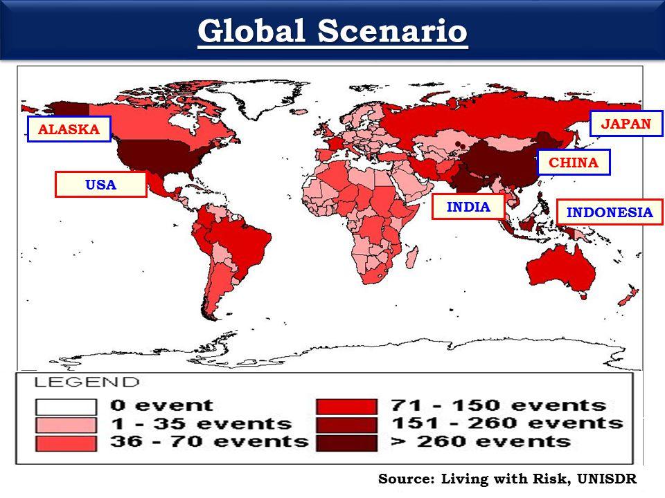 INDIA ALASKA USA CHINA Source: Living with Risk, UNISDR INDONESIA JAPAN Global Scenario