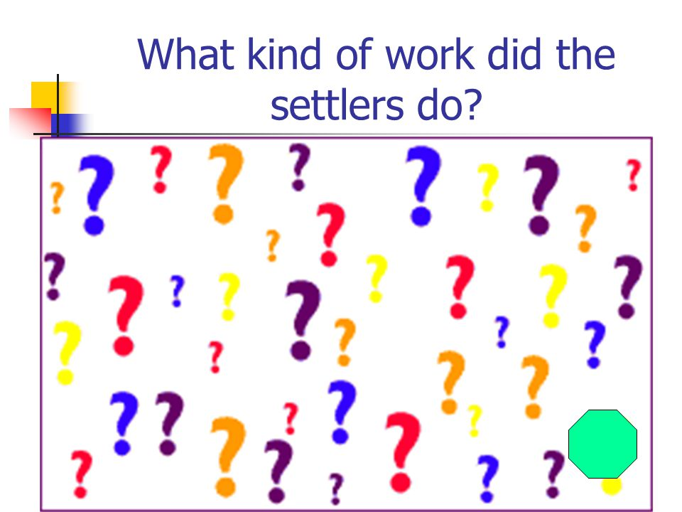 What kind of work did the settlers do