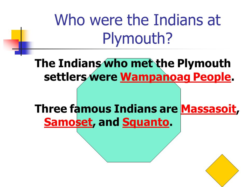 Who were the Indians at Plymouth.