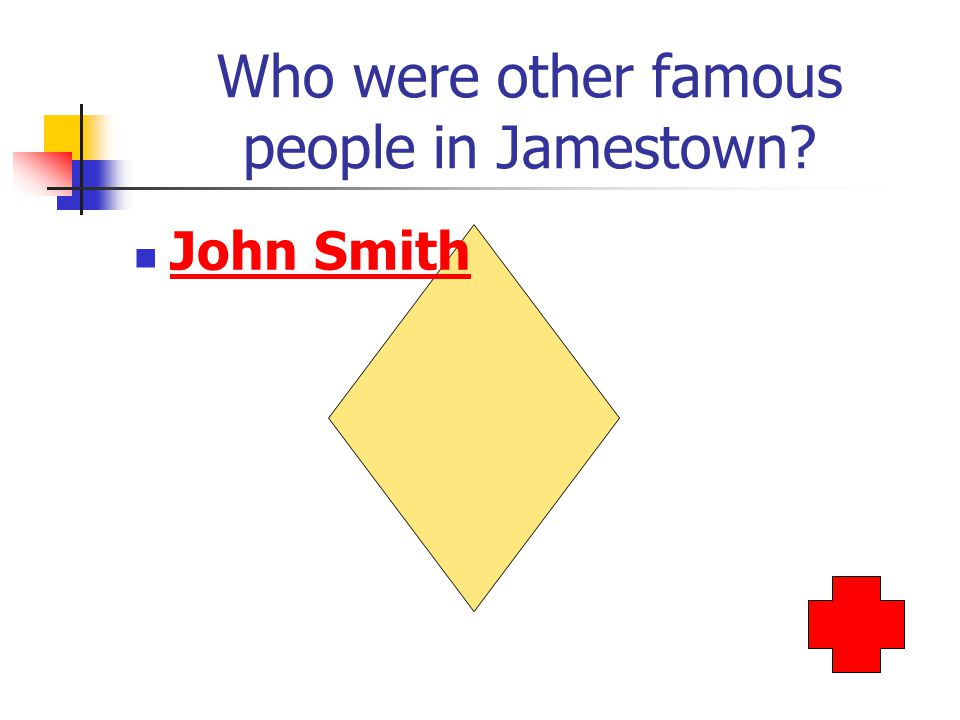 Who were other famous people in Jamestown John Smith