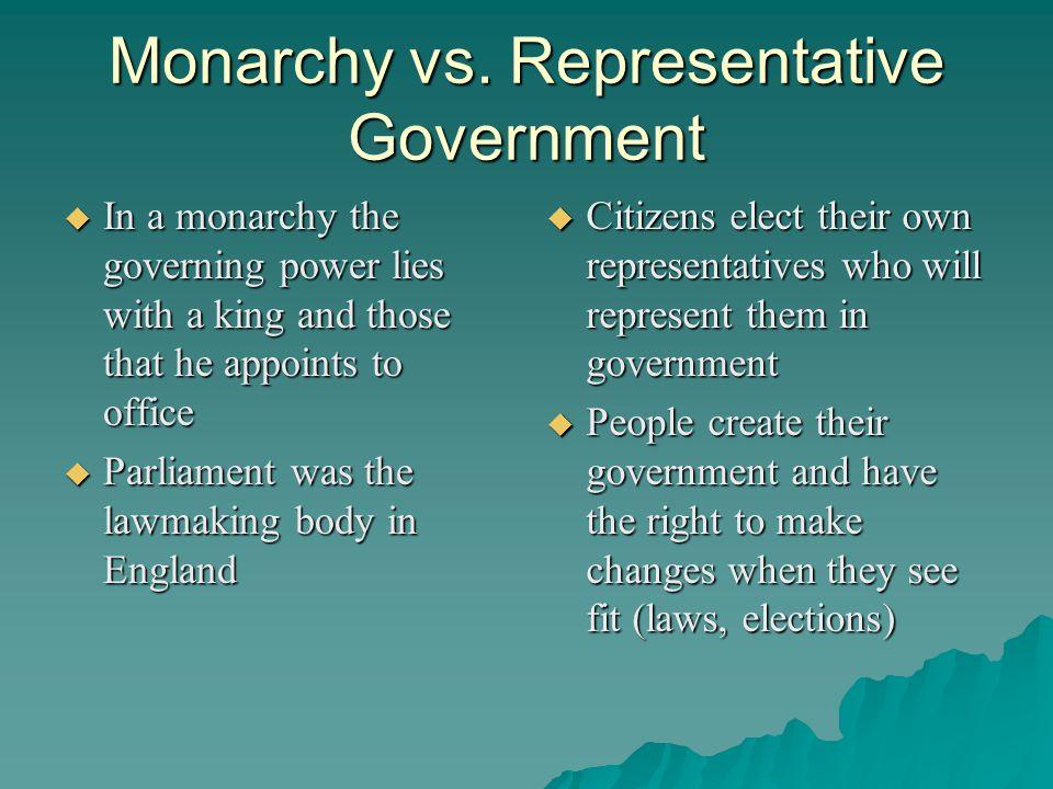 Monarchy vs.