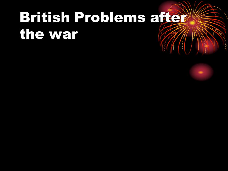 British Problems after the war