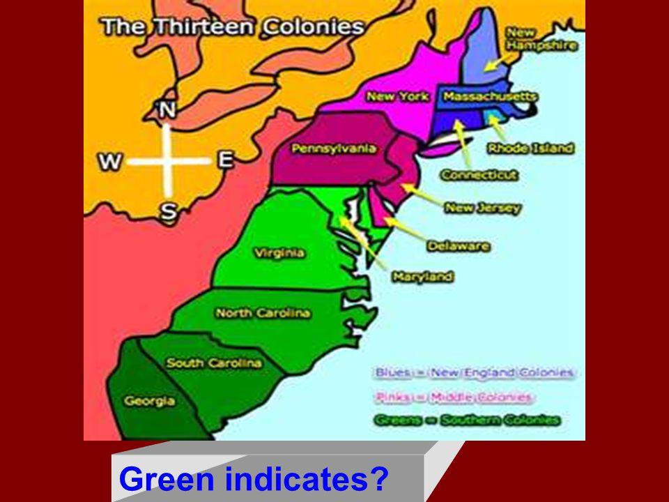 Green indicates?