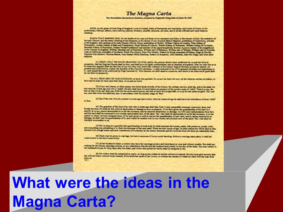 What were the ideas in the Magna Carta?