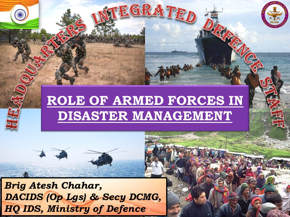 Discussion Points Procurement and storage of Disaster Relief Bricks - ease of transportation Provision of funds for equipping QRTs and QRMTs - viable back up to NDRF CBRN capability Coordination and Decision Making process - MHA, MEA, MoD & HQ IDS