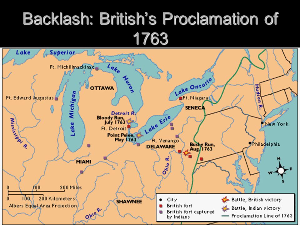 Backlash: British's Proclamation of 1763