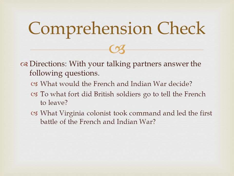   Directions: With your talking partners answer the following questions.