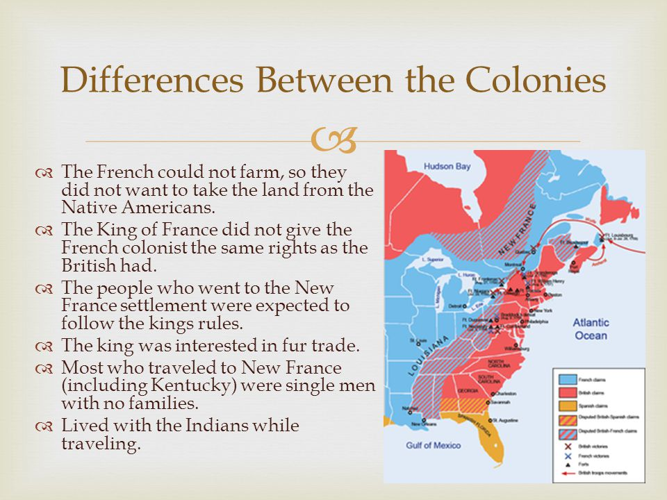   The French could not farm, so they did not want to take the land from the Native Americans.