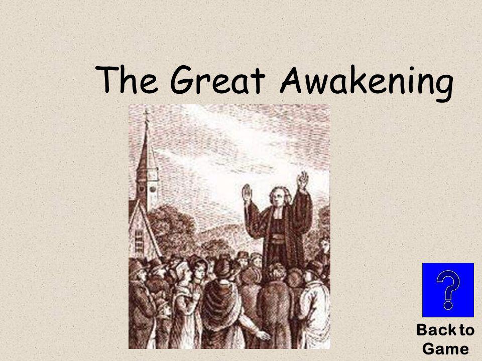 The Great Awakening Back to Game