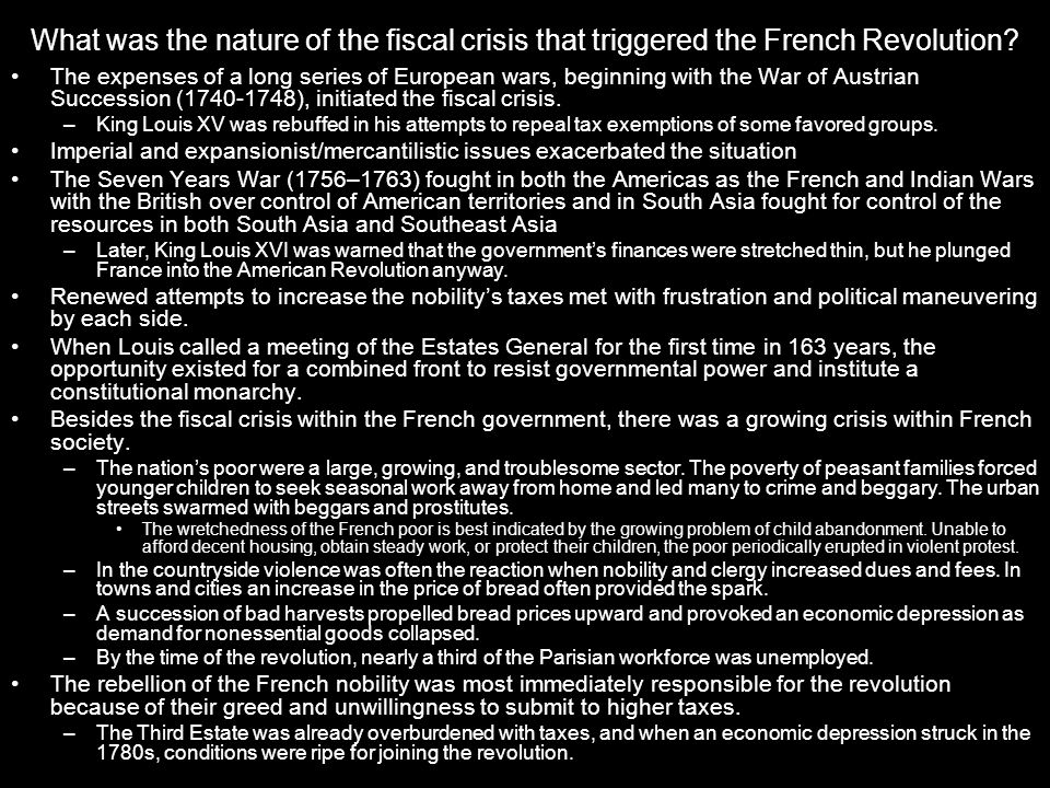 What was the nature of the fiscal crisis that triggered the French Revolution.