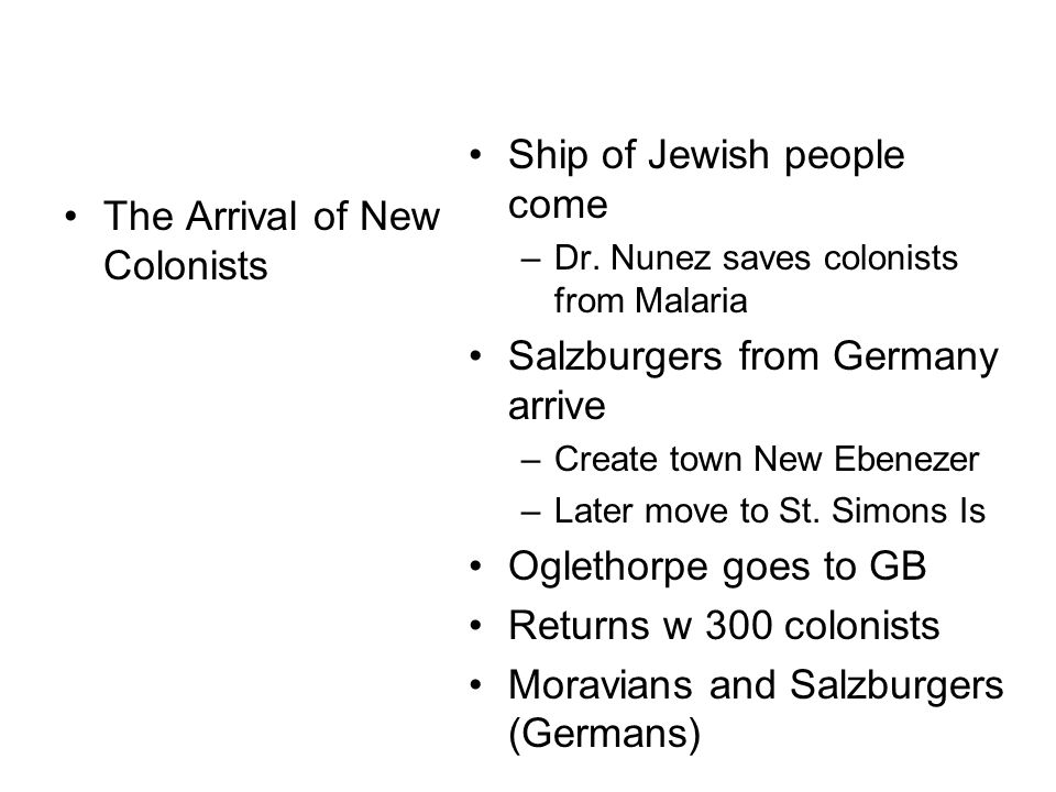The Arrival of New Colonists Ship of Jewish people come –Dr.