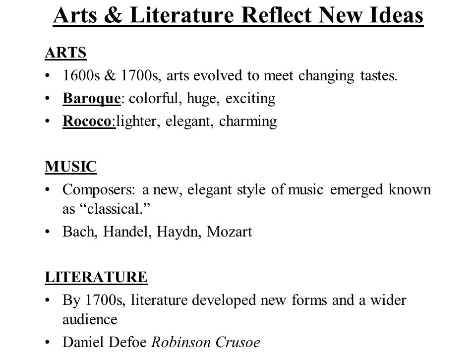 SALONS New literature, the arts, science and philosophy were regular topics of discussion in the salons.