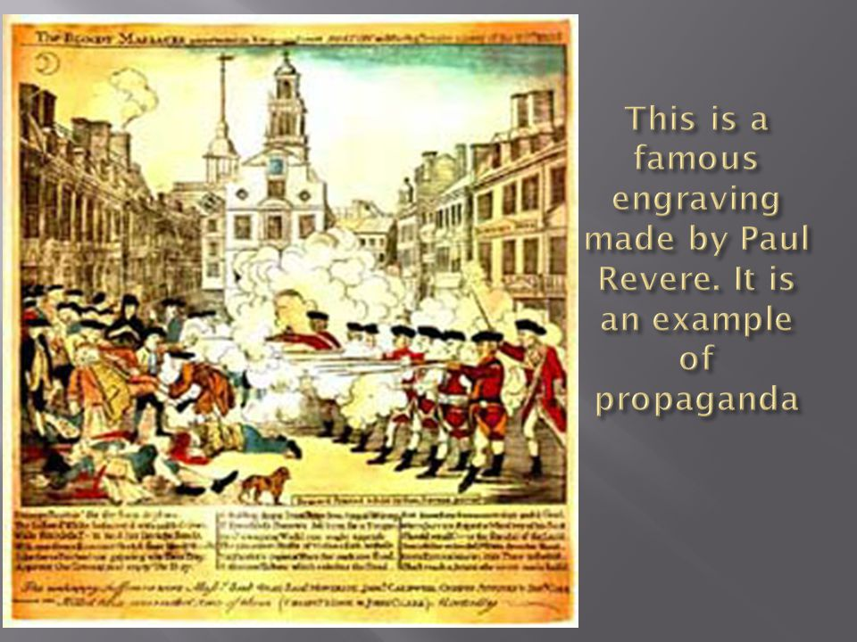  What are some of the elements of propaganda in this engraving?