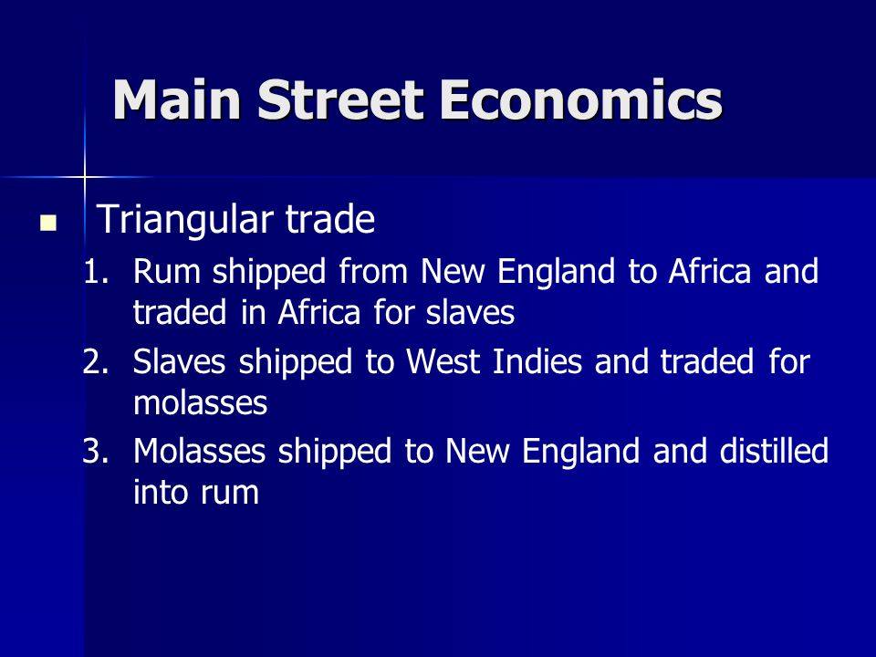 Main Street Economics Triangular trade 1.