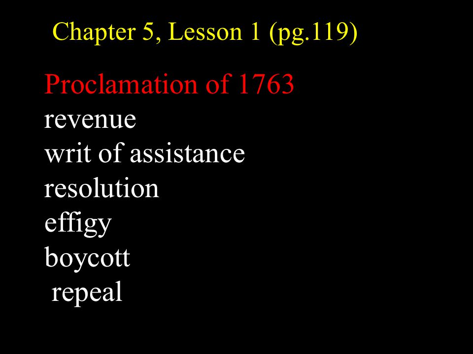 No Taxation Without Representation Ms. Elias Chapter 5, Lesson 1