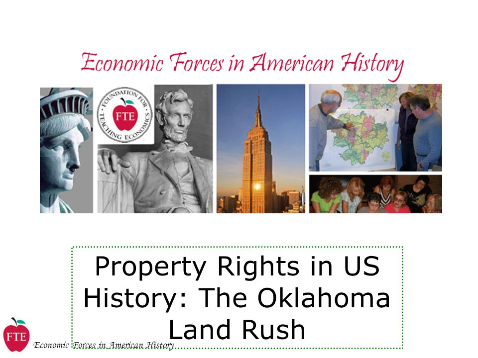 Property Rights in US History: The Oklahoma Land Rush