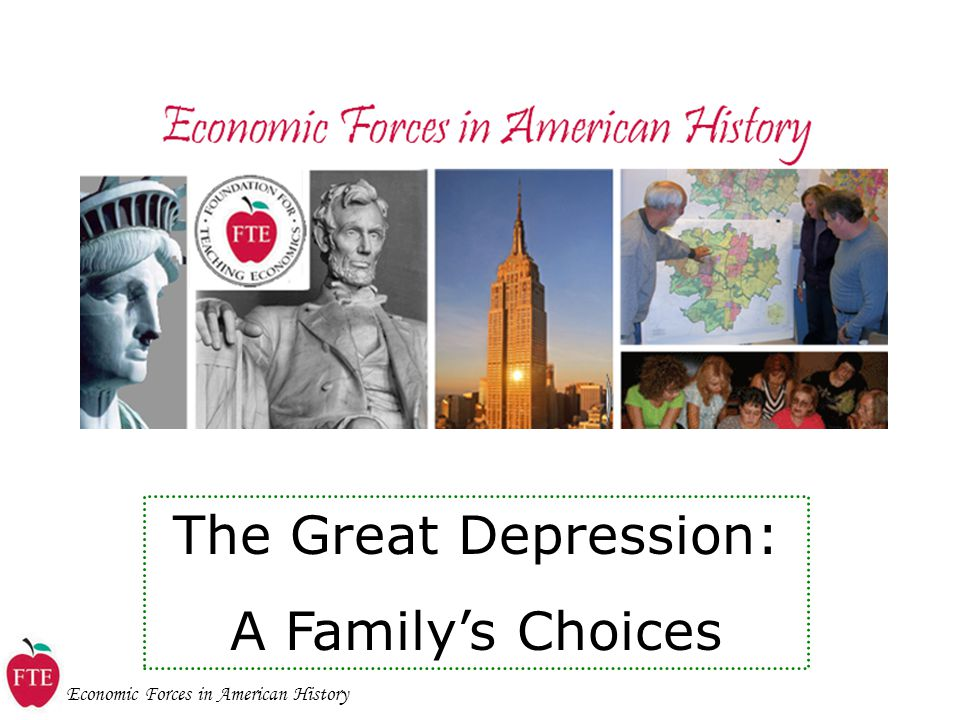 The Great Depression: A Family's Choices