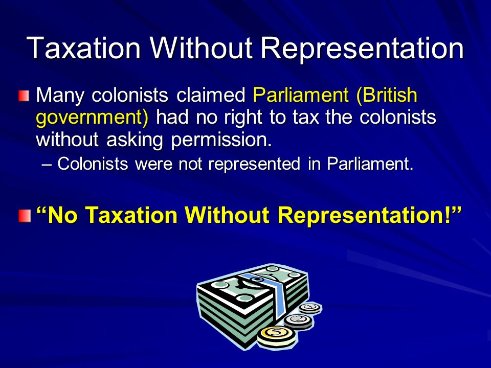 Stamp Act 1765 Parliament passed the Stamp Act –all legal & commercial documents must have an official stamp showing a tax had been paid on the document Ex: newspapers, diplomas, contracts, playing cards Colonial merchants organized a boycott of British goods as a result of the Stamp Act.