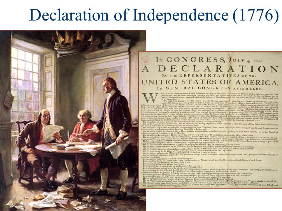 The Decision for Independence The colonies divided: PatriotsWhigs –Supporters of independence were called Patriots or Whigs LoyalistsTories –Colonists that opposed independence were called Loyalists or Tories neutral –There were many neutral colonists who were conflicted by the prospect of independence