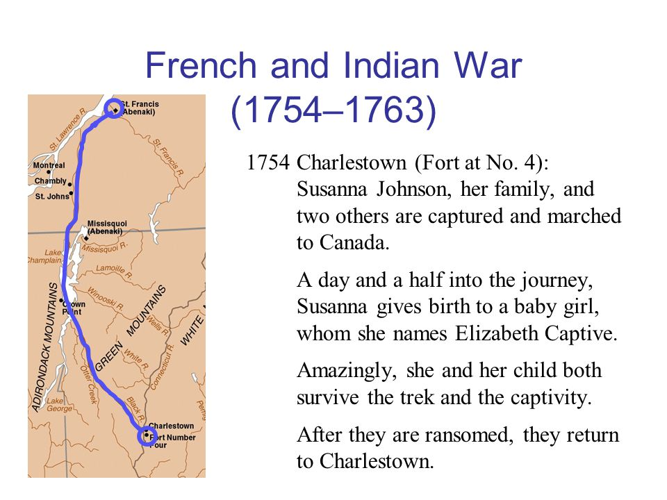 French and Indian War (1754–1763) 1754Charlestown (Fort at No.