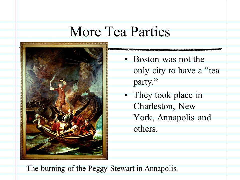 The Intolerable Acts Laws passed to punish the colonists for the Boston Tea Party.