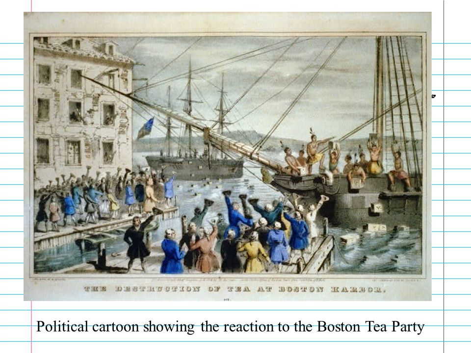 More Tea Parties Boston was not the only city to have a tea party. They took place in Charleston, New York, Annapolis and others.