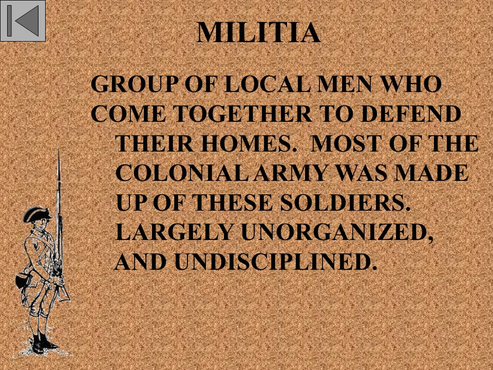 MILITIA GROUP OF LOCAL MEN WHO COME TOGETHER TO DEFEND THEIR HOMES.