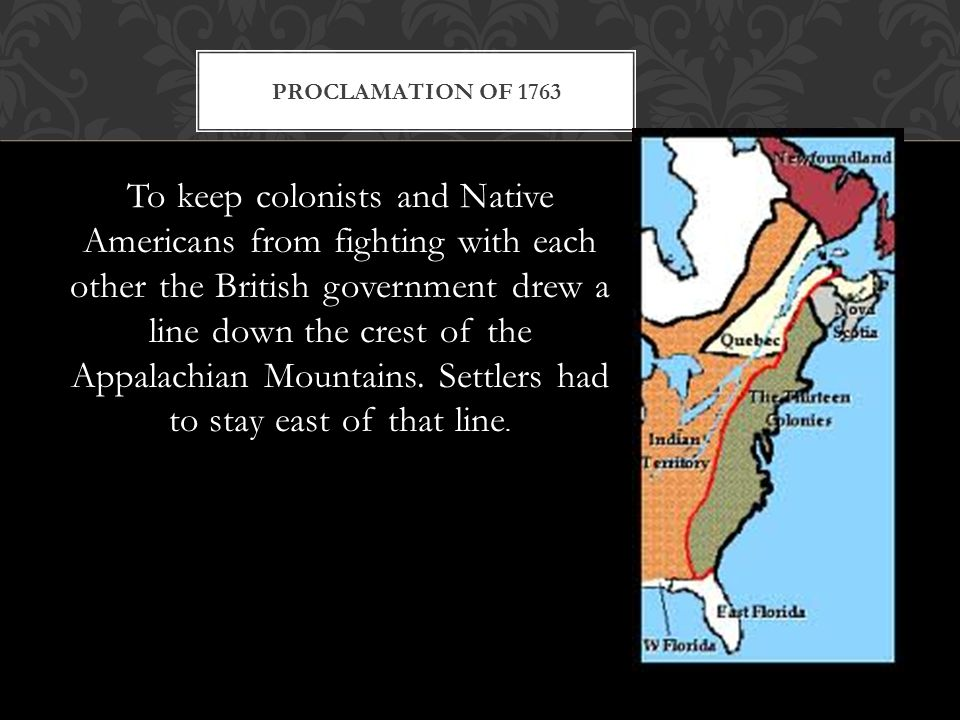 British/Loyalists- Defending the frontier is to expensive.