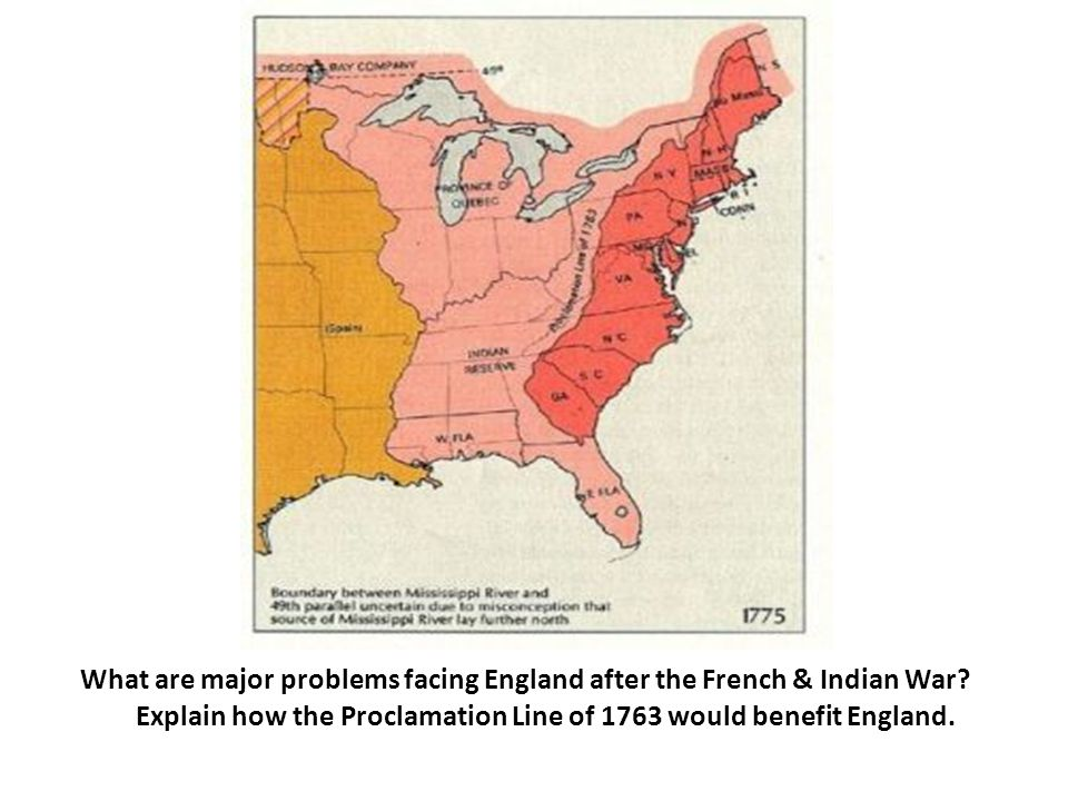 What are major problems facing England after the French & Indian War.