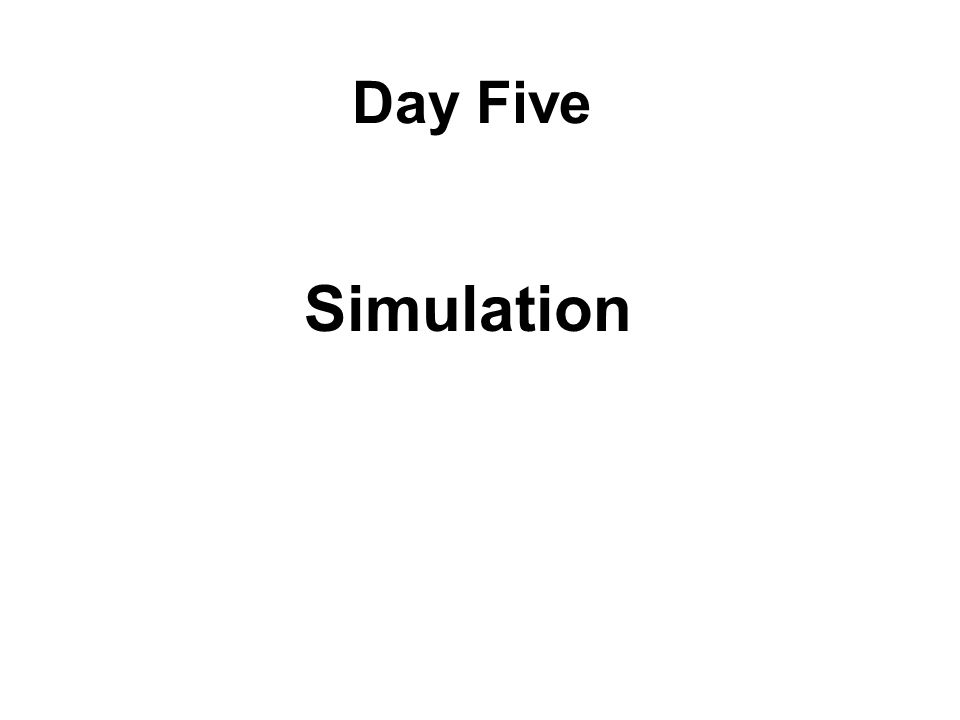 Day Five Simulation