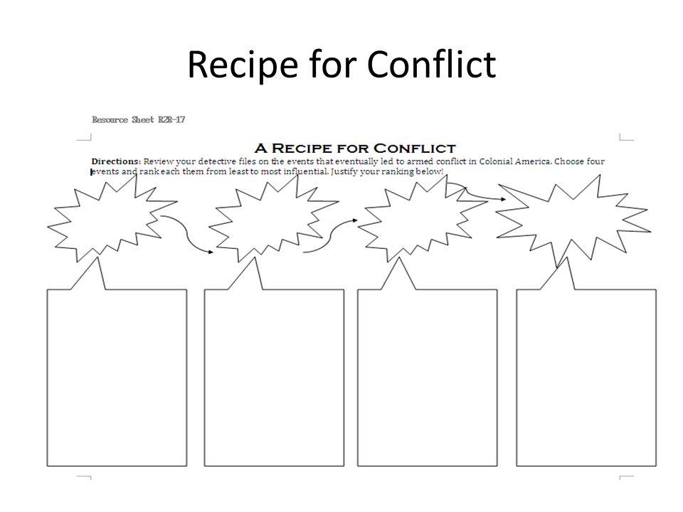Recipe for Conflict