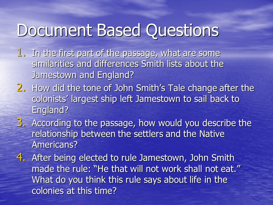 Document Based Questions 1.