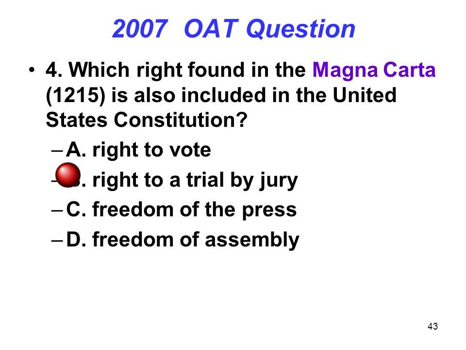 43 2007 OAT Question 4.