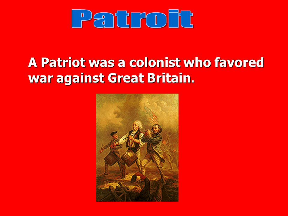 The Continental Army was the patriot army established by the Second Continental Congress to fight the British.