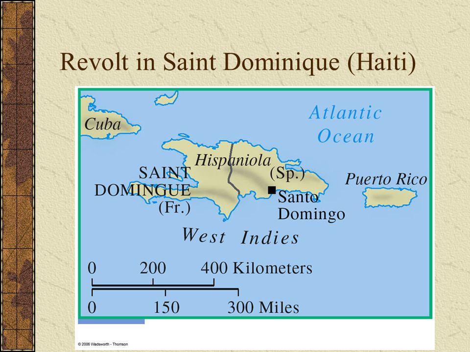 Revolt in Saint Dominique (Haiti)