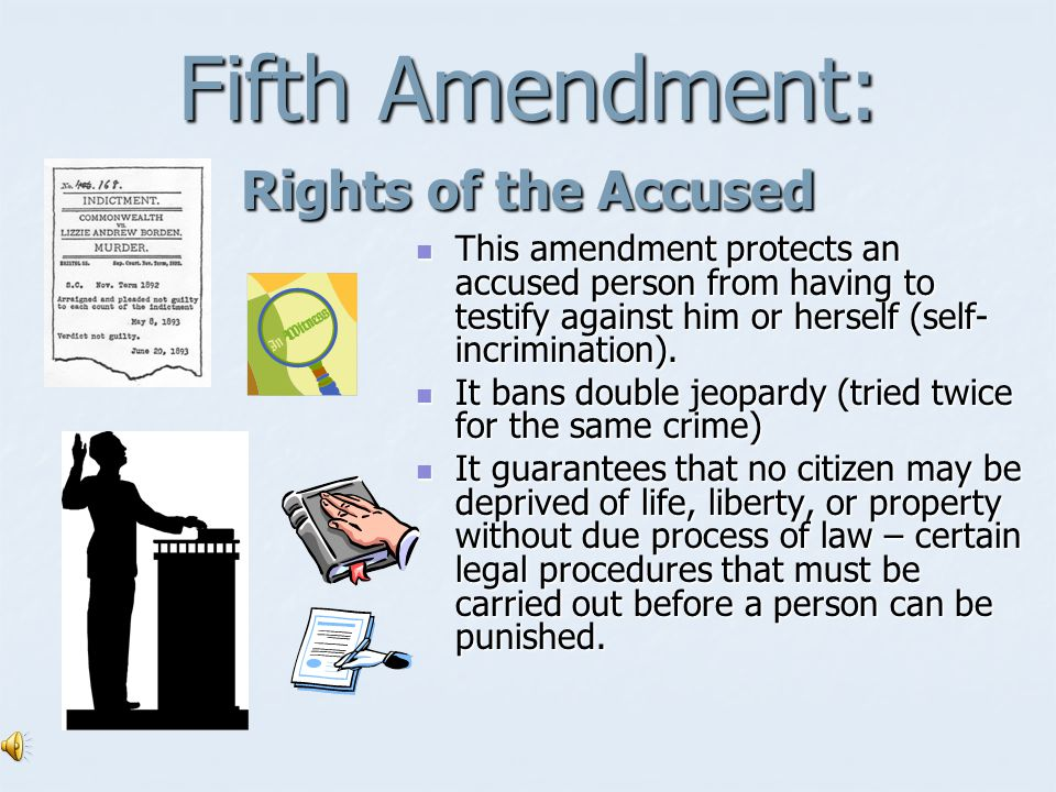 Fourth Amendment: Search and Seizure Protects citizens from unreasonable searches and seizures.